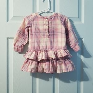 •baby gap plaid dress 12-18mos•